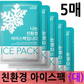 친환경 아이스팩 (대) 5매 / 얼음 보냉백 택배 포장