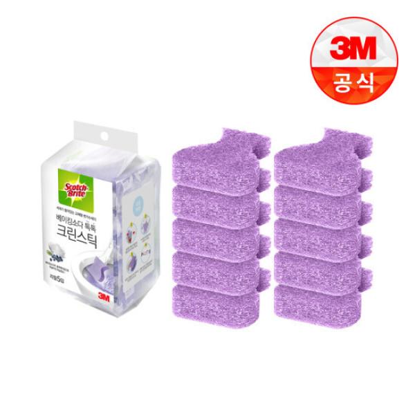 3M 변기청소 베이킹소다 크린스틱 리필 10입 상품이미지