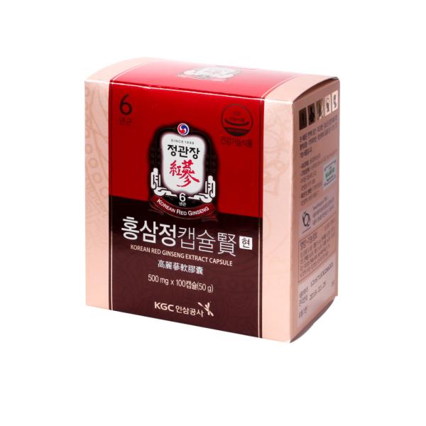 정관장 홍삼정 캡슐 현 500mg x 100캡슐 / 술깸 홍삼 상품이미지