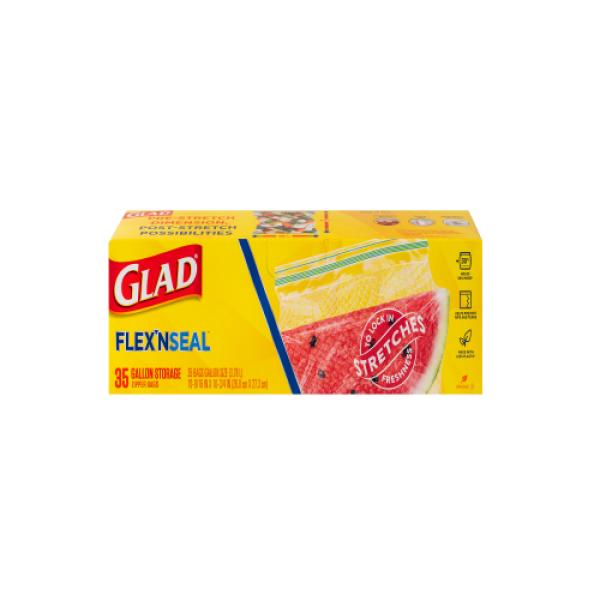GLAD 플렉스앤씰 지퍼백 냉장(대형) (26.8 27.3CM 35매) 상품이미지