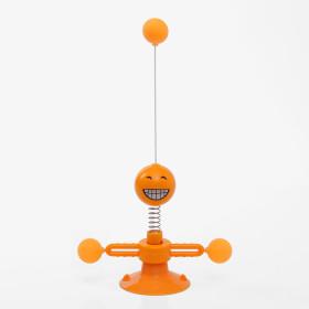 냥냥펀치 스프링 고양이장난감 흡착식 캣토이(오렌지)