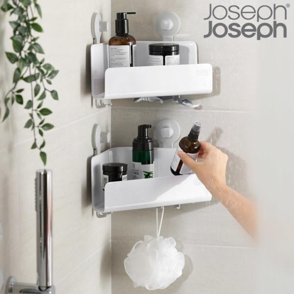 죠셉죠셉   신상품  조셉조셉  이지스토어 코너형 욕실선반 2p세트(무타공 부착형) 상품이미지