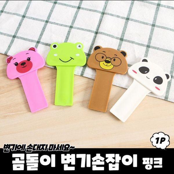 (제이큐) 곰돌이 변기손잡이 핑크 상품이미지