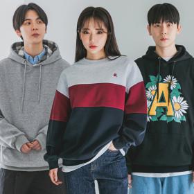 [ALVINCLO] Sweatshirt collection / crewneck / hoodie / fleece-lined /