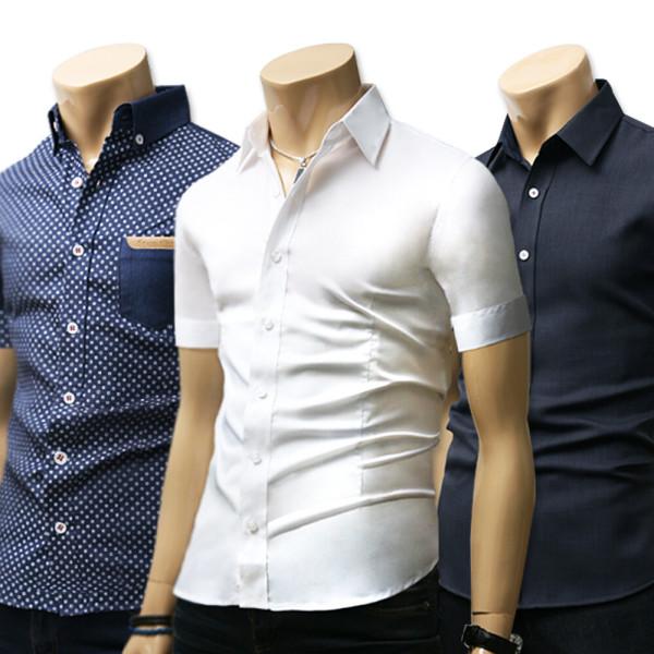 가을신상 남방/남자옷/솔리드무지 데님청체크스판셔츠 상품이미지