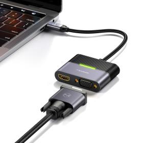 4 in 1 C타입 USB 멀티 확장 허브 어댑터 HDMI VGA PD