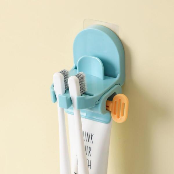 아트박스  /로하티 3in1 부착식 칫솔홀더 치약짜개(블루) 상품이미지