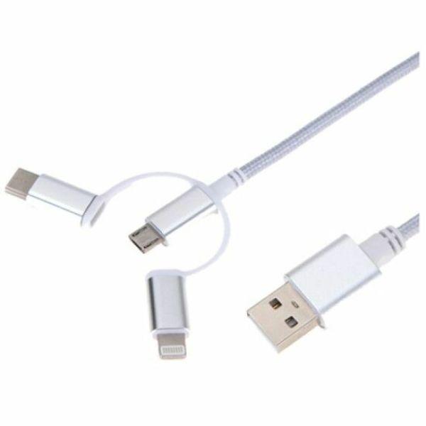 3 in 1 USB 충전 케이블 1M (99285) 상품이미지