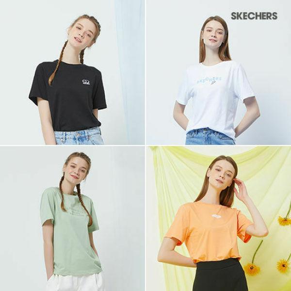 스케쳐스 여성용 반팔 코튼 티셔츠 4종 패키지 상품이미지