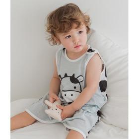 Milk Cow Sleep Vest Baby Summer Homewear Innerwear