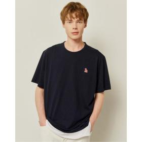 21SS  HIS  에버쿨 수피마 딥네이비 스탠다드핏 티셔츠 HZTS1B801N2