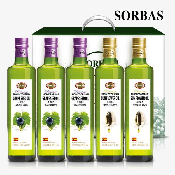 소르바스  포도씨유3병 해바라기유2병 세트 상품이미지