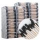 블랙 회오리 나무면봉 40봉 검정 나선형 흑면봉