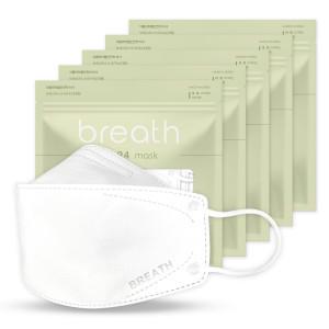 브레스 마스크 KF94 120매/5매입/흰색/국산/국내제조