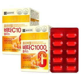 종근당건강 프리미엄 비타C 1000플러스 100정 2박스
