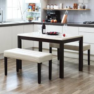 4인 대리석 식탁 세트/4인용 캘빈W 에코 벤치2개형 C56