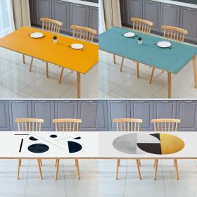지베아 가죽 방수 캠핑 감성 예쁜 식탁보 120 x 60cm