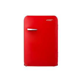 진우전자 레트로 원룸 가정용 소형 냉장고 JWBC-130R