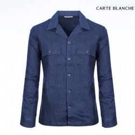 남성 린넨 자켓 셔츠 CMF8WS26 NV_P310054267