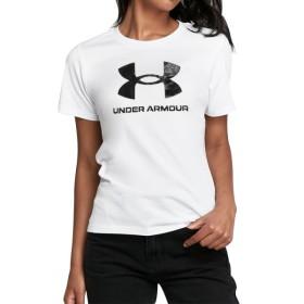 [언더아머] UA 스포츠스타일 그래픽 반팔티 화이트 여자 티셔츠 1356305-102