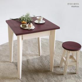 66 테이블 1인 2인용 원목식탁 책상 콘솔 다양한컬러