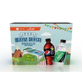 롯데칠성 제로탄산 캠핑테이블 패키지 기획상품
