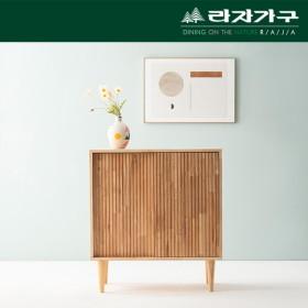 [라자가구] 우드림 고무나무 슬라이딩 높은 거실장 800_LI115
