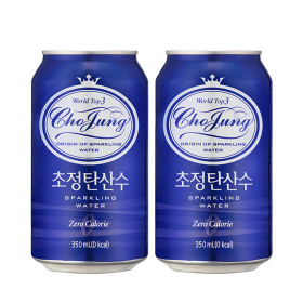초정탄산수 플레인 350ml 24캔 2박스 총48캔 음료수