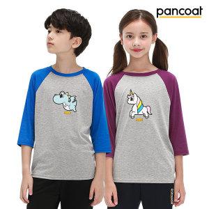 팬콧  주니어 7부 티셔츠 2개SET_PETT-1200