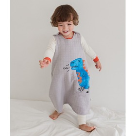Blue Tyranno Sleep Vest Baby Winter Anti-stomachache Pajama