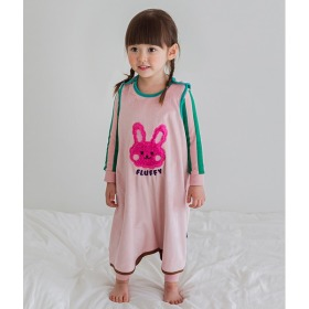 Plum Bunny Sleep Vest Baby Winter Anti-stomachache Pajama