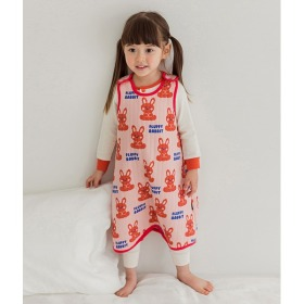 Fluffy Rabbit Sleep Vest Baby Winter Anti-stomachache Pajama