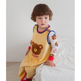 Plum Bear Sleep Vest Baby Winter Anti-stomachache Pajama