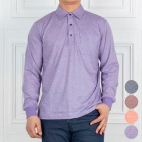 [헤스티지] [하프클럽/중년의품격]쿨링 파스텔 트웰 스판 카라 티셔츠 111