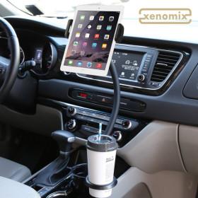 차량용  컵홀더 태블릿PC 자바라 거치대 XKG-CP2000
