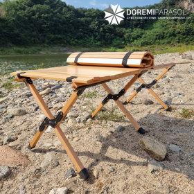 우드 롤테이블 접이식 차박 감성 휴대용 바베큐테이블