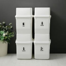 컬러빈 가정용 재활용 분리수거함 35L 4P 4단 휴지통