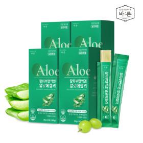 장피부면역엔 유기농 알로에젤리 4박스x(14포)