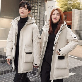 PJ11남녀공용 신상  커플 다운후드 패딩 캐주얼 자켓