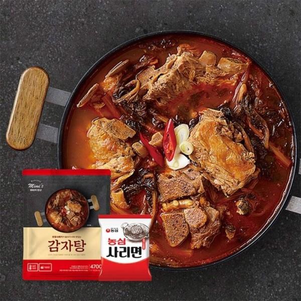미미의 밥상 T 미미의밥상 국내산 등뼈 대용량 감자탕 4.7kg+라면사리 증정/레토르트(실온보관) 상품이미지