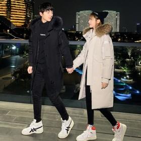 PJ30남녀공용 고급 신상 커플 다운 후드롱 패딩  자켓