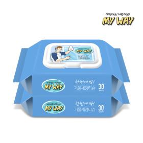 거울 세정 소독 티슈 30매 2팩(60매) 스마일배송