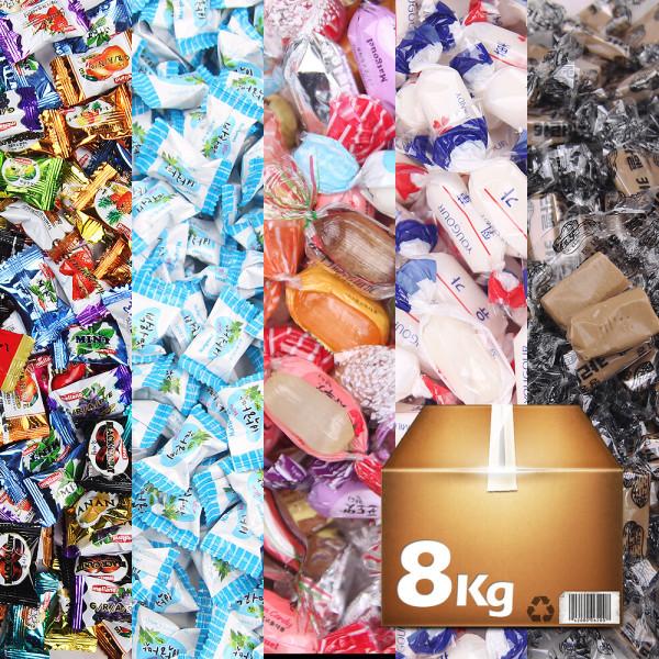 업소용/대용량 디저트 캔디 사탕 8kg 약 2000개입 상품이미지
