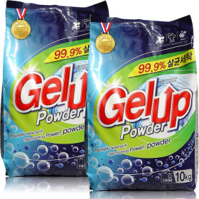 Gelup laundry detergent 10kg x 2pcs total 20kg front load washing machine usable