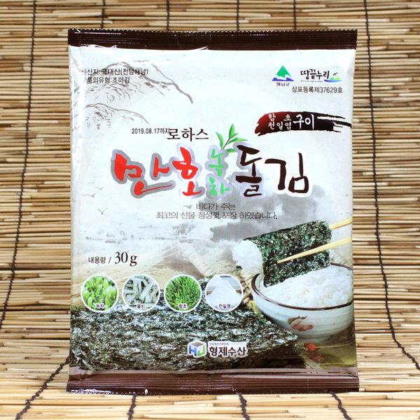 만호 녹차돌김 (10봉) 바삭하고 고소한 맛있는 돌김 상품이미지