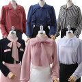퀄리티최고 봄블라우스 쉬폰 꽃나염 레이스 체크셔츠