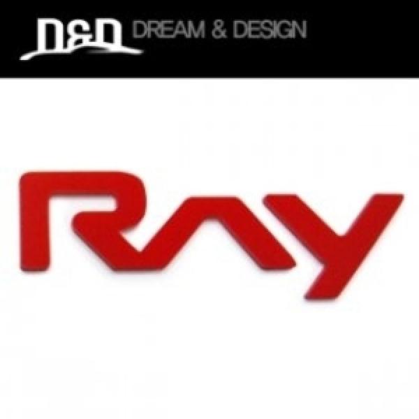 기아자동차 레이/RAY 포인트 엠블럼 레드/실버 2가지 색상  자동차스티커/고급아크릴/엠블렘/앰블렘 상품이미지