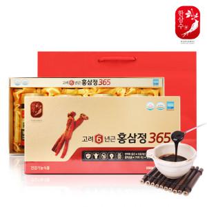 6년근홍삼 고려홍삼정골드4병+쇼핑백/인삼국내산