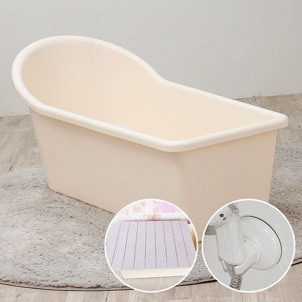 이동식 반신욕조+샤워걸이/반신욕기/욕조/덮개/목욕통 상품이미지