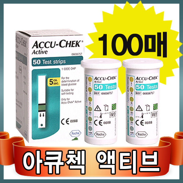 VT 로슈 아큐첵 액티브 혈당시험지100매 상품이미지